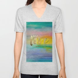 One Love, Ocean Sunrise 2 Unisex V-Neck