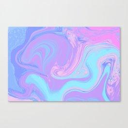 Blue Purple Liquid Marble Canvas Print