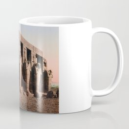 Statues Osiris Et Les Colonnes Du Temple - Circa 1900 Photochrom Coffee Mug