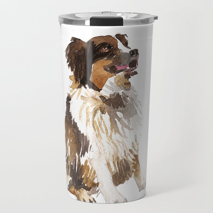 Watercolor Dog Vol 6 Bernese Mountain Travel Mug
