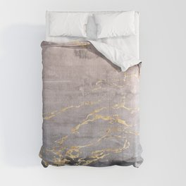 Watercolor Gradient Gold Foil IV Comforters