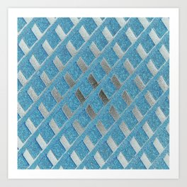 Blue Grill Abstract Art Print