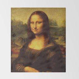 Leonardo Da Vinci Mona Lisa Painting Throw Blanket