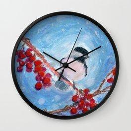 Little Chickadee Wall Clock