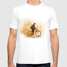 The Biker White Mens Fitted Tee MEDIUM
