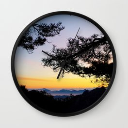 Sunrise on the Huangshan Yellow Mountain Wall Clock