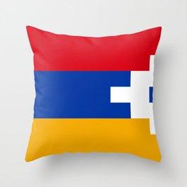 Nagorno-Karabakh Flag Throw Pillow