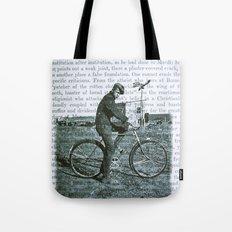 1930s Boy on Bike Photo Collage Tote Bag