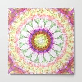 Soft Floral Swirls Metal Print