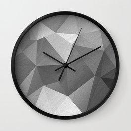 Grey polygonal geometric pattern . Wall Clock