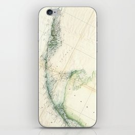 Vintage Map of The Florida Keys (1859) iPhone Skin
