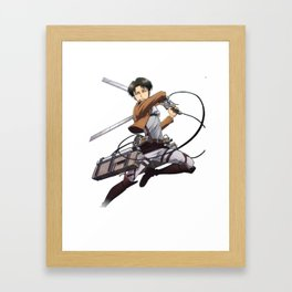 captain levi strike Framed Art Print