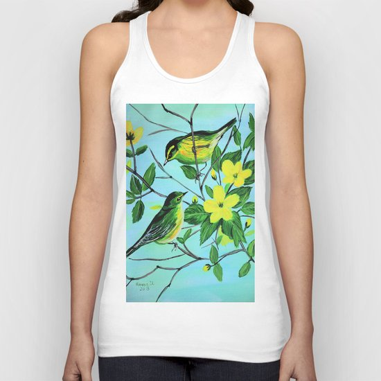 Thinking of spring  Unisex Tank Top