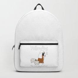 Christian Design - Sheep Following the Good Shepherd - Psalm 23 Backpack