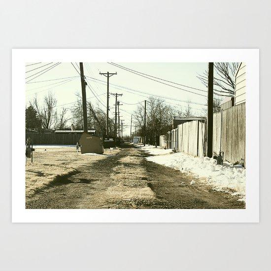 Suburban Back Alley Art Print