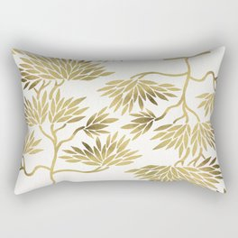Bonsai Fruit Tree – Gold Palette Rectangular Pillow