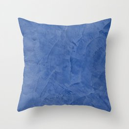 Light Blue Stucco - Corbin Henry Monochromatic texture -Faux Finishes - Venetian Plaster Throw Pillow