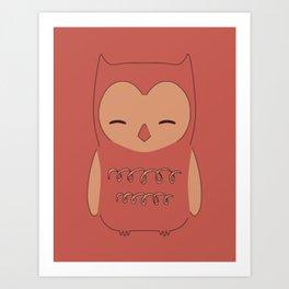 Owl illustration minimalist Art Print
