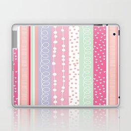 heart love valentine polka dot pink blue grey purple red Laptop & iPad Skin