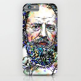 ALFRED,LORD TENNYSON watercolor and ink portrait iPhone Case