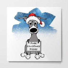 Free Christmas Kisses Metal Print