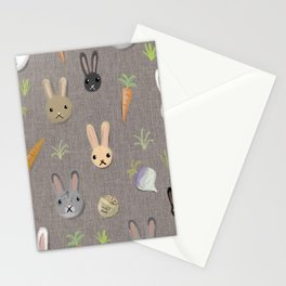 Rabbits and carrots Stationery Cards