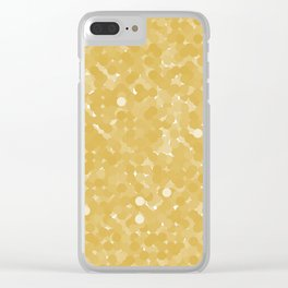 Spicy Mustard Polka Dot Bubbles Clear iPhone Case