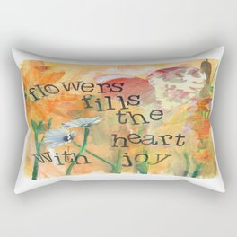 Flowers and Joy by Seattle Artist Mary Klump Rectangular Pillow