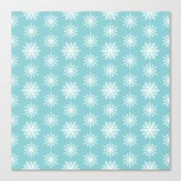 Frosty Snowflakes Canvas Print