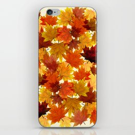 Red Maple Leaves iPhone Skin