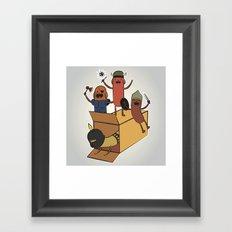 AT - Hog Dog Knights Framed Art Print