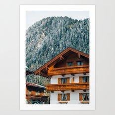 Alpine Architecture Art Print