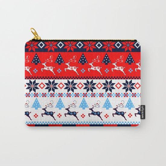 Scandinavian holidays pattern design Carry-All Pouch