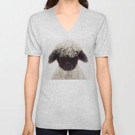 Baby Lamb, Baby Animals Art Print By Synplus Unisex V-Neck
