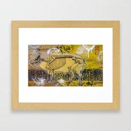 Pig Skeleton Framed Art Print