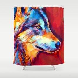 Wolf Portrait 2 Shower Curtain