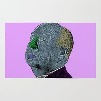 hitchcock Area & Throw Rugs featuring Alfred Hitchcock by CultureCloth