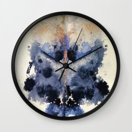 Victorian Inkblot Wall Clock