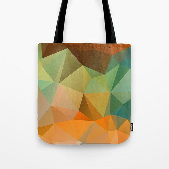 Colored polygon pattern. Tote Bag