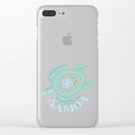 Vintage Samoa Tribal Turtle Clear iPhone Case