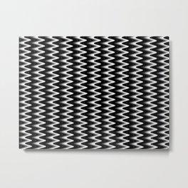 Zig Zag Metal Print