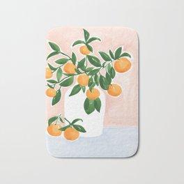 Orange Tree Branch in a Vase Bath Mat
