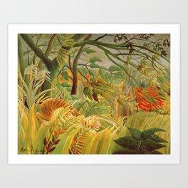 Henri Rousseau - Tiger In A Tropical Storm Art Print
