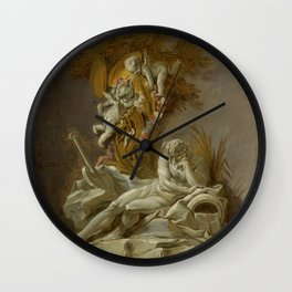 "François Boucher ""Fountain Study I"" Wall Clock"