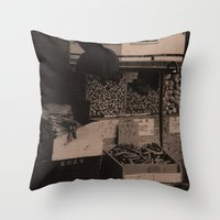 food Throw Pillows featuring FooD by Christophe Chiozzi