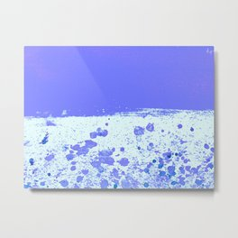 Ink Drop Blue Metal Print