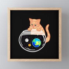 Galaxy Fishing Framed Mini Art Print