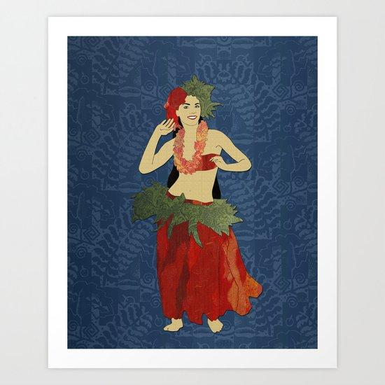 Polynesian Dancer Art Print