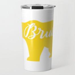 Yellow Bruins Bear Travel Mug