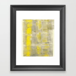 Stasis Gray & Gold 2 Framed Art Print